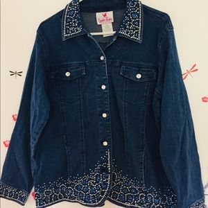 Quicker Factory bling bling jean jacket ❤️💖❤️💖